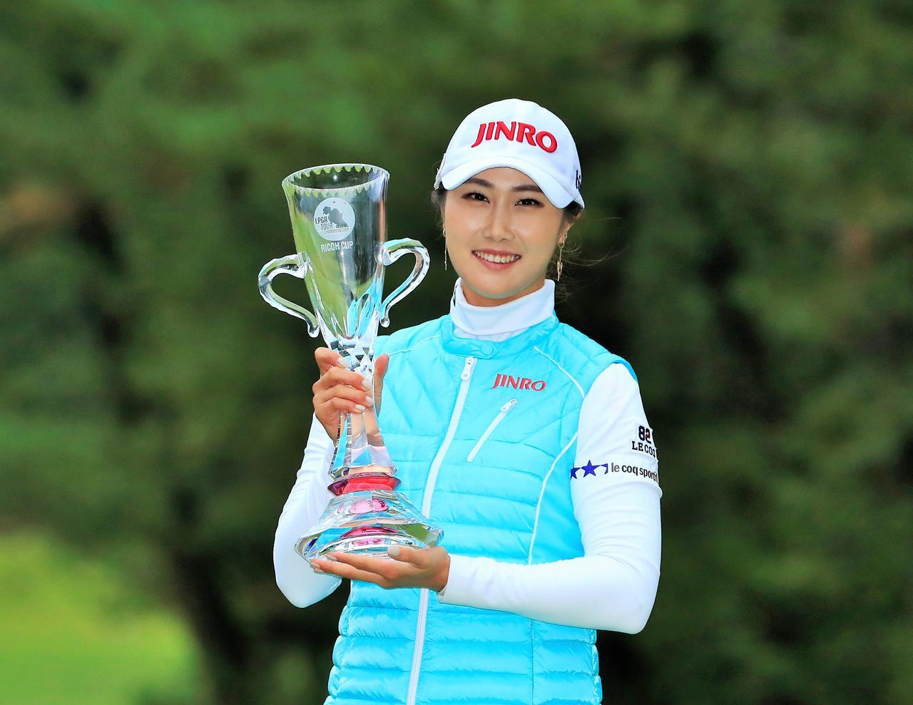 画像: 2016年「LPGAツアー選手権リコーカップ 」では、日本ツアー参戦2年目にして初のメジャータイトルを獲得