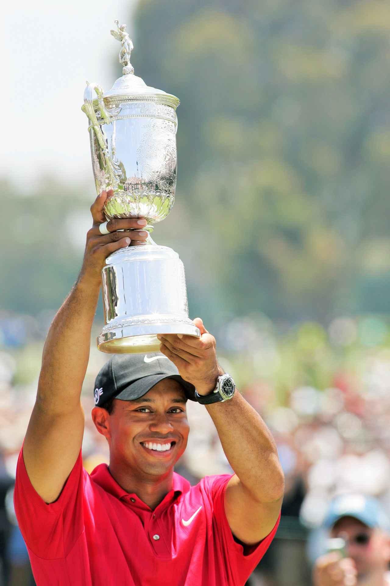 画像: 2008年「全米オープン」で、メジャー通算14勝目を飾った