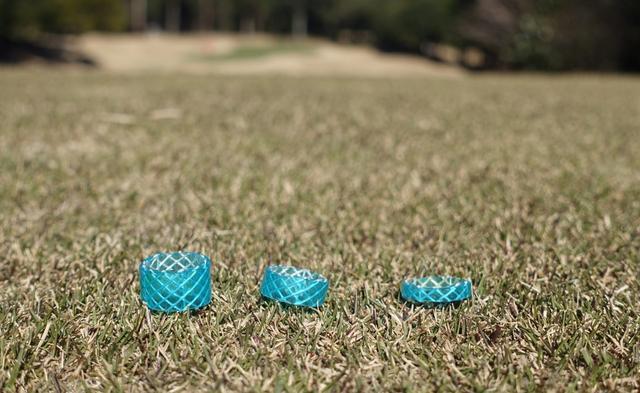 画像: 左から10ミリ、7ミリ、4ミリと3種類作れば様々なクラブに対応できる
