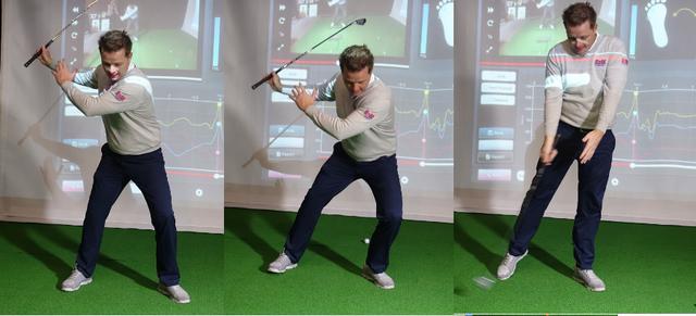 画像: トップから左足を踏み込んでインパクトで伸ばす動きがヘッドスピードを加速させる