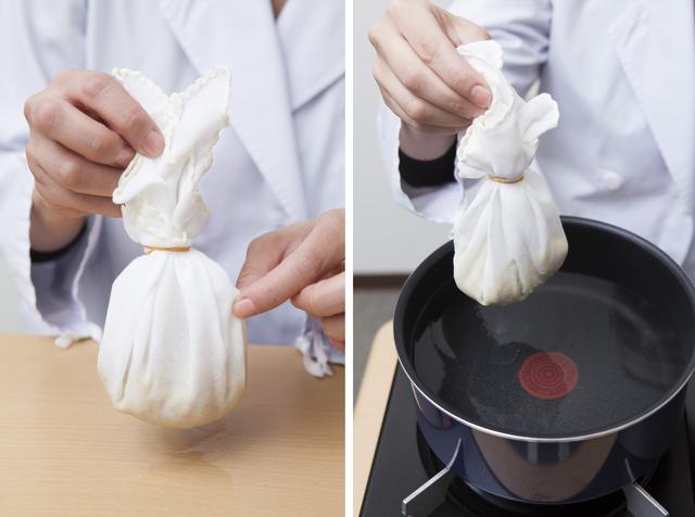 画像: 綿素材ならハンカチなどでも代用OK! 生姜が包めるものなら何でも大丈夫です