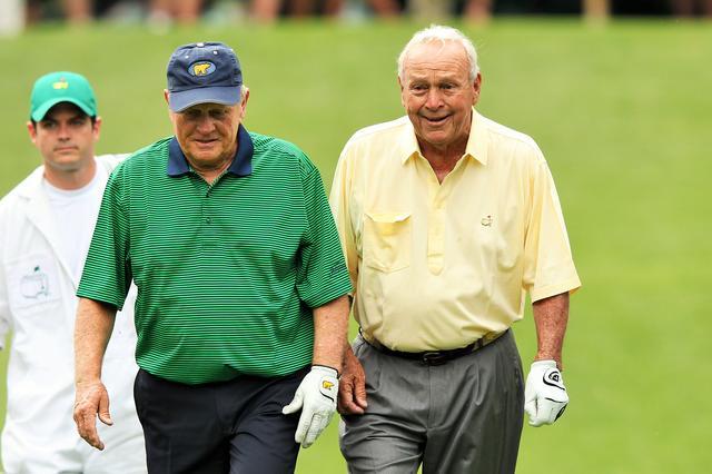 画像: ゴルフ界からはタイガー・ウッズ(2位)の他、アーノルド・パーマー(写真右)が3位、ジャック・ニクラス(写真左)が4位という結果だった