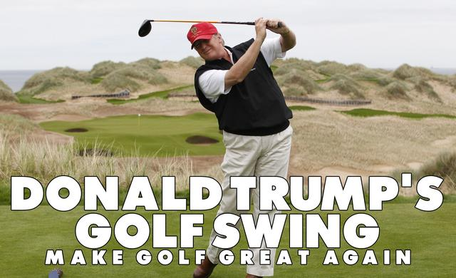 画像: Donald Trump's Golf Swing www.youtube.com