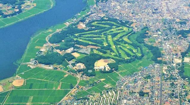 """画像: 空から見た""""神様目線""""! ゴルフ場当てクイズ - みんなのゴルフダイジェスト"""
