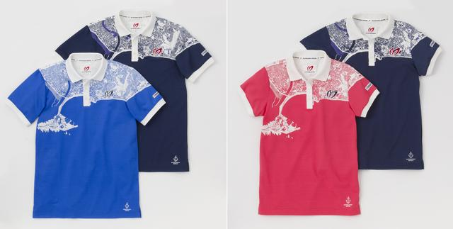 画像: カラー展開はコチラ。左がメンズ(ブルー・ネイビー)、右がレディス(ピンク・ネイビー)