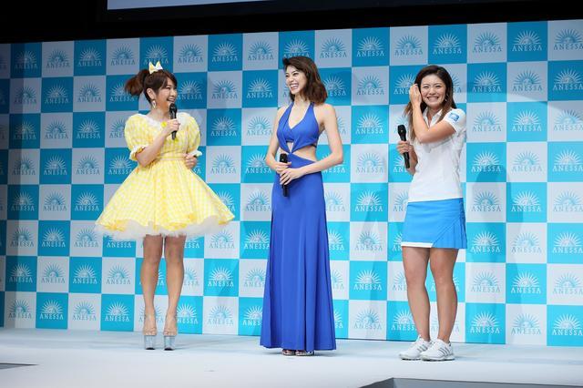 画像: はるな愛さん(左)、森星さん(真ん中)、渡邉彩香プロ(右)