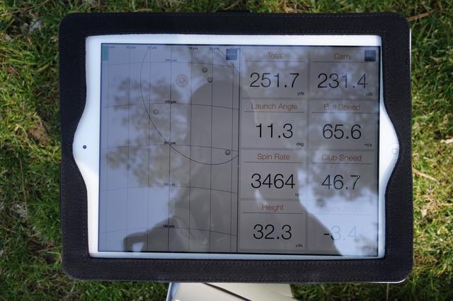 画像: 弾道計測器「トラックマン」のデータ。きっちり250ヤードを打てる頼れるクラブになっている