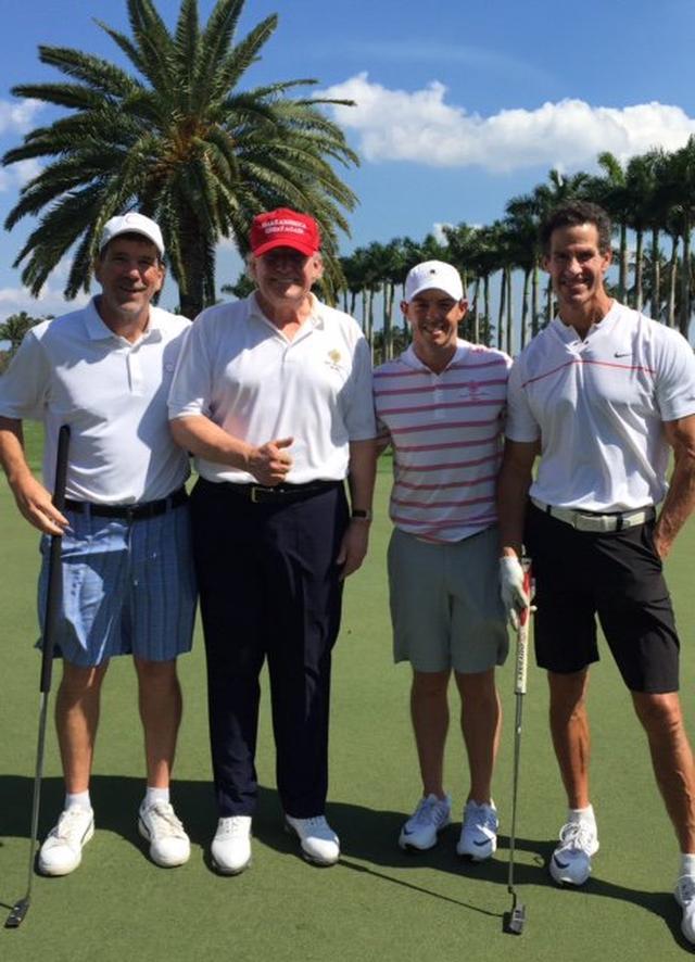 画像: マキロイ、トランプ大統領とゴルフする。あれ……怪我は? - みんなのゴルフダイジェスト