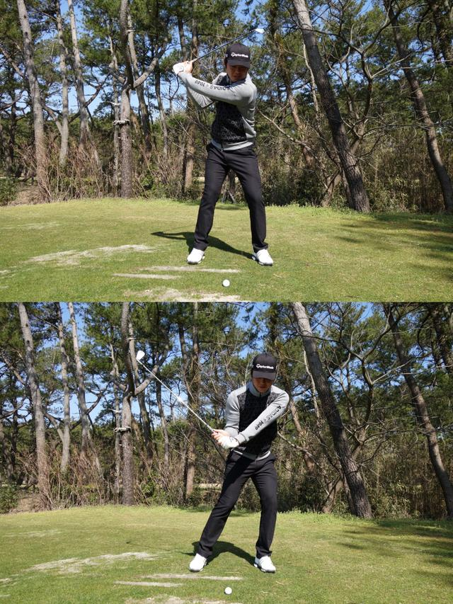 画像: 力んで自分から打ちにいくと、かえってボールが上がらない