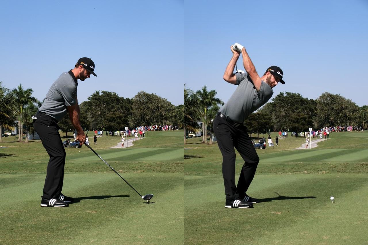 """画像: ダスティン・ジョンソンはこれで飛ばしてる。 """"地面反力""""で飛距離アップ! - みんなのゴルフダイジェスト"""