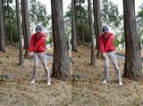 画像: 履くような打ち方は、実は林の中から「もっともミスしやすい」打ち方だった
