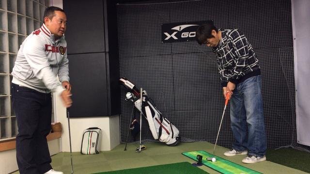 画像: ゴルフ大好きな博多華丸さんはこのドリルを成功させることができるか!?