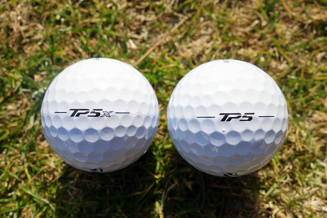 画像: ダスティン・ジョンソン、ジェイソン・デイらが使うTP5X(左)と、セルヒオ・ガルシアらが使用するTP5