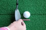 画像: 少しフェースをかぶせると、真っすぐ球は飛ぶ