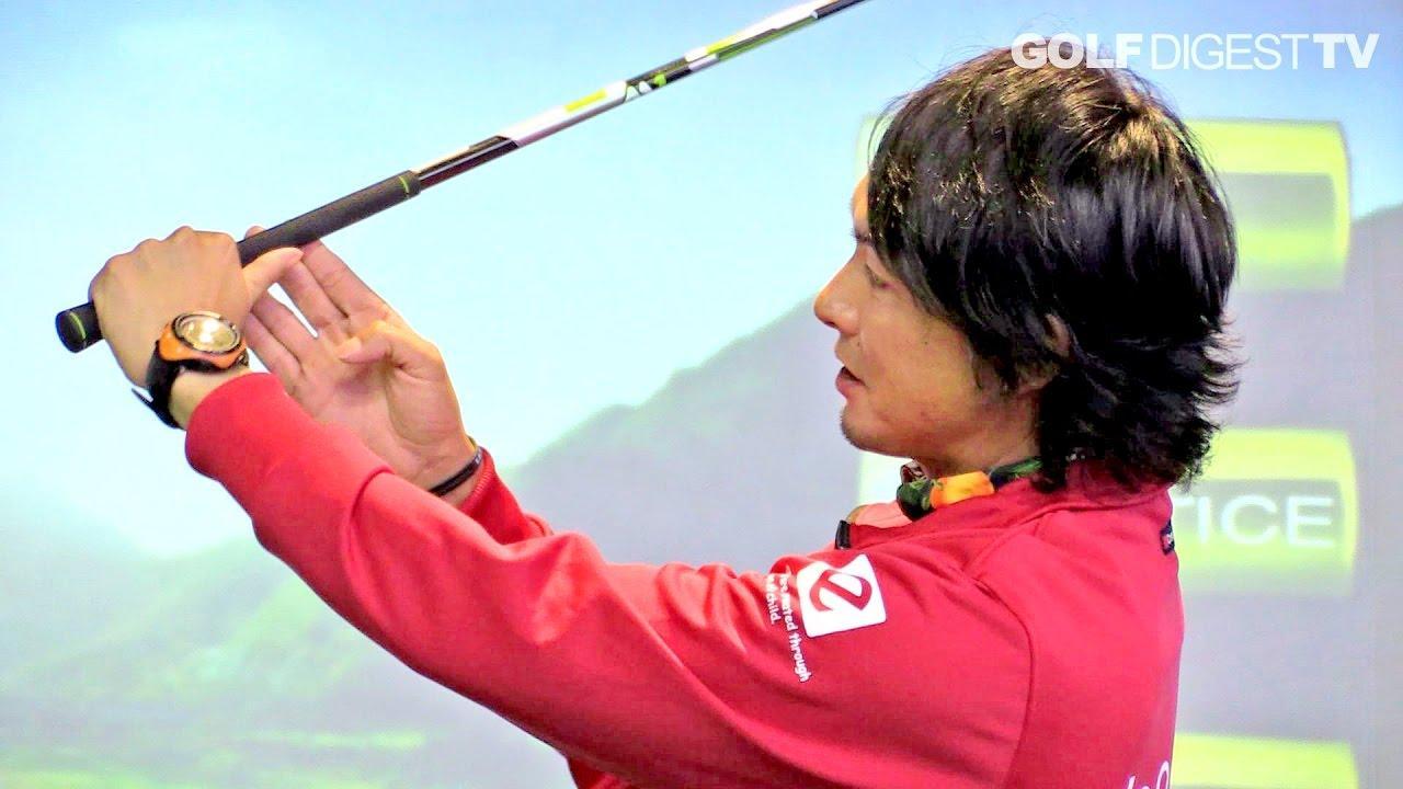 """画像: ⑥ドライバーレッスン「オーバースウィングやシャフトクロスを直すには""""左手親指にシャフトを乗せよう""""」木村友栄の『ドライバーが真っすぐ飛べばゴルフはカンタン!』 youtu.be"""