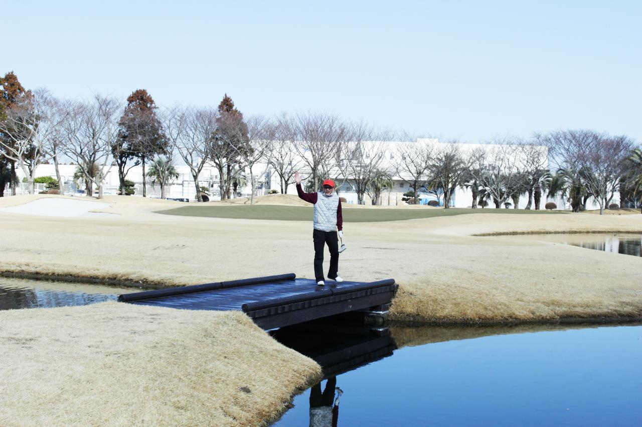 画像: 池が地面と同じ高さで美しかった