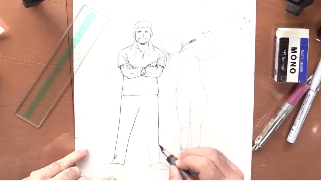 画像1: 続いて専用のペンで描く「ペン入れ」
