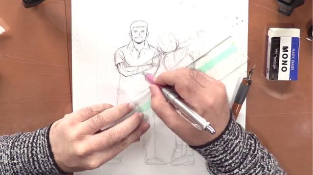 画像2: 続いて専用のペンで描く「ペン入れ」
