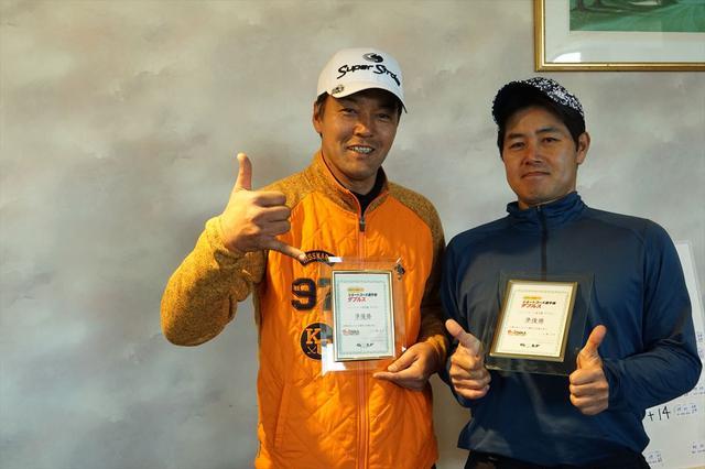 画像: 準優勝の茅野賢一さん(左)、平安山英幸さん(右)ペア