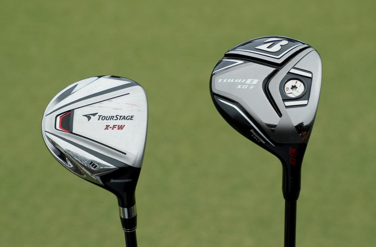 画像: 3Wは「ブリヂストンゴルフ XD-F」、5Wは「ブリヂストンゴルフ ツアーステージ X-FW」