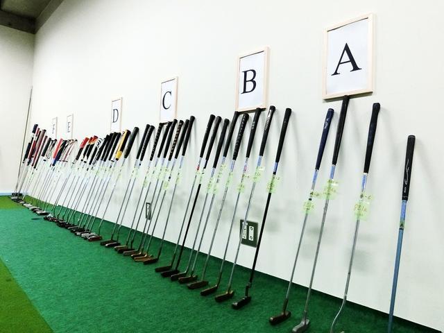 画像: 濱部教授の研究室には、さまざまなパターがA〜Fのバランスで分類されている。A→Fの順で、ヘッドのバランスが重い