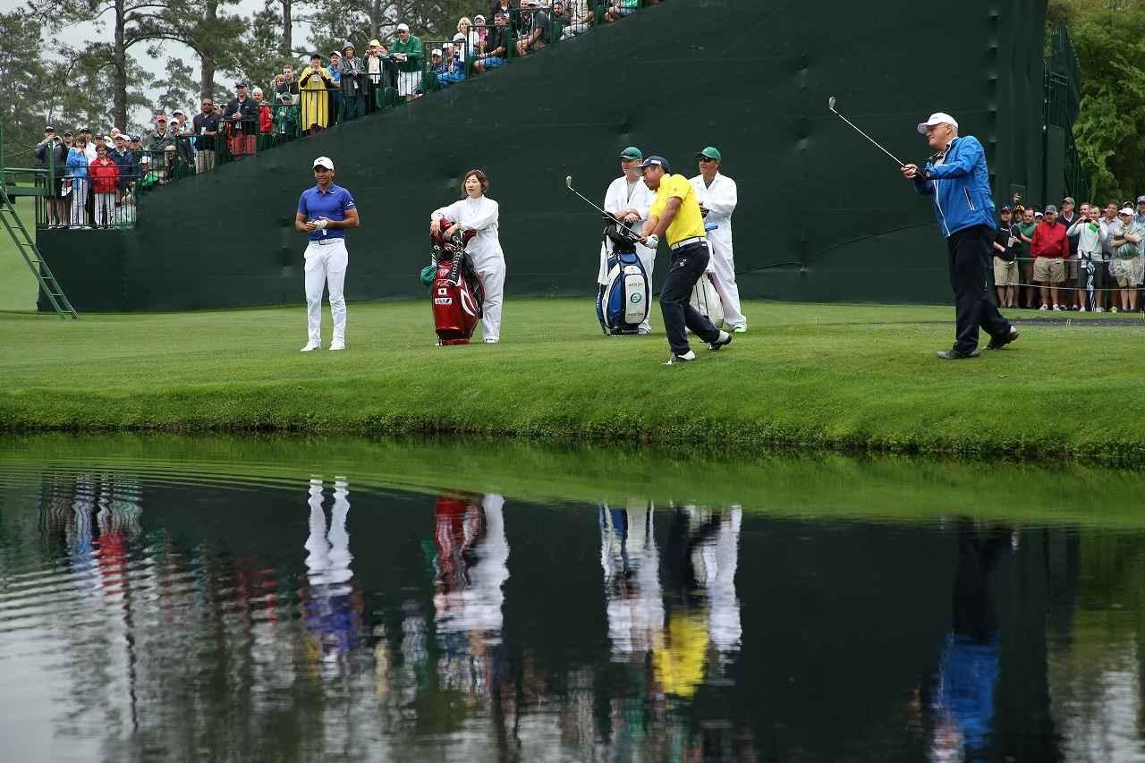画像: 勇太、デイ、ライルが「水切りショット」を披露 マスターズ公式練習【マスターズ2017現地レポート(3)】 - みんなのゴルフダイジェスト
