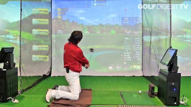 画像: ⑦ドライバーレッスン「飛距離アップには、両ひざを立てて打ってみよう」木村友栄の『ドライバーが真っすぐ飛べばゴルフはカンタン!』 youtu.be