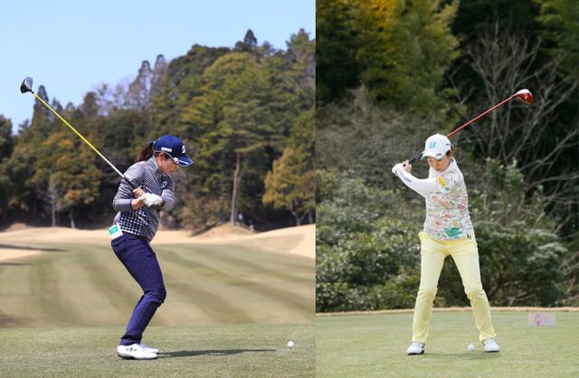画像: 切り返したら右ひじが背中側に位置するにところに注目(左側)