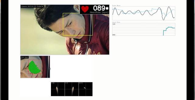 画像: 選手の表情から心拍数を読み取ることが可能