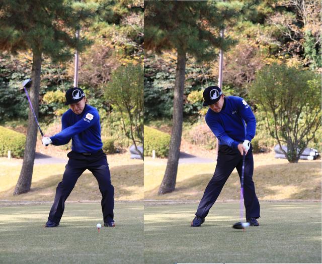画像: インパクトに力を伝える「左ひざを伸ばす」動き
