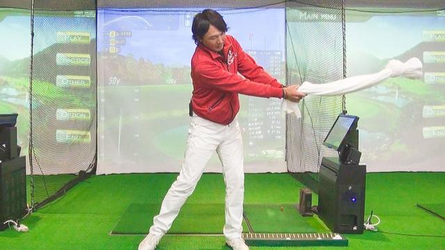 画像: ⓼ドライバーレッスン「ヘッドスピードを上げるには、バスタオルを振ろう」木村友栄の『ドライバーが真っすぐ飛べばゴルフはカンタン!』 youtu.be