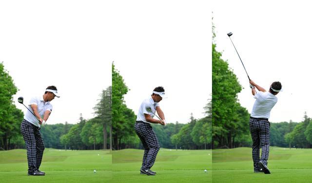 画像: 上げる、下ろす、振り抜く、すべてが同じ角度