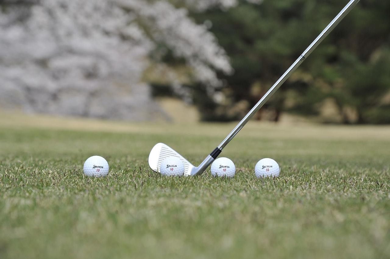 画像: 左から3W、UT、7I、SWのボール位置