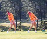 画像: インパクト前後の体の傾きが変わらない、帽子の向きも変わらない正確無比なインパクトゾーン
