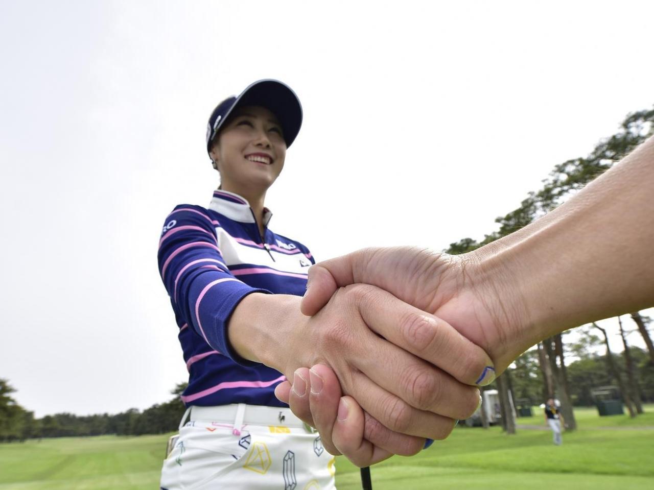 """画像: """"握手""""をしたら実感できた。キム・ハヌルの飛ばしの「秘密」 - みんなのゴルフダイジェスト"""
