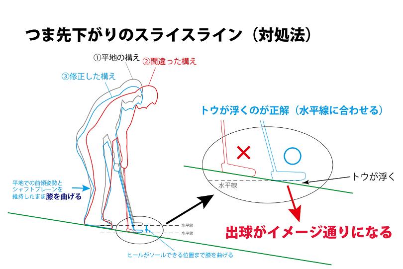 画像: 図3.正解の青のシルエットを見てみよう。ひざを曲げることでトウを浮かせて構えるのが「平地と同じ」構えに相当する