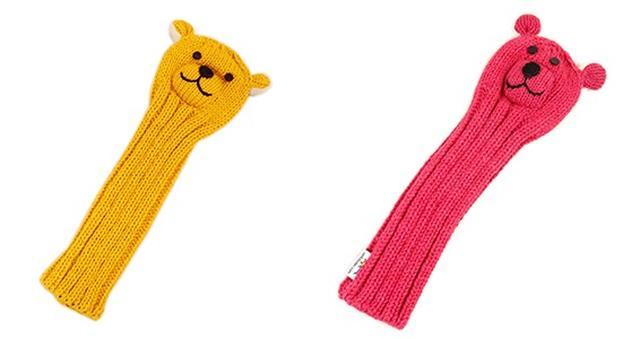 画像: クマは黄色とピンク