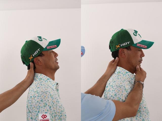 画像: 身体が目一杯回せる!「首の準備動作」