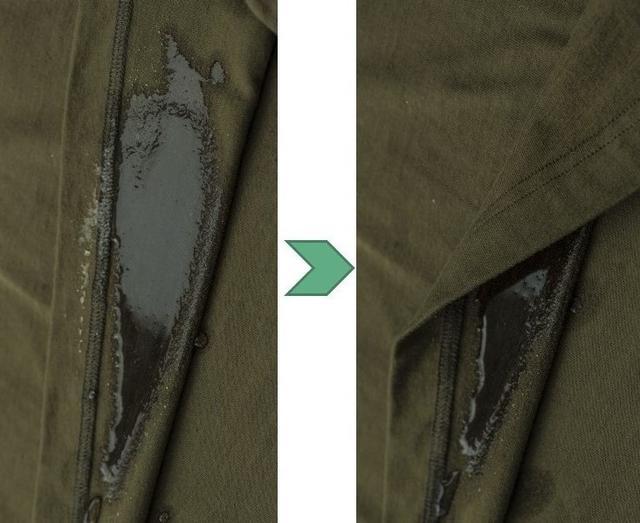 画像: 裏が濡れていても表面には浮き出てこない仕様になっている
