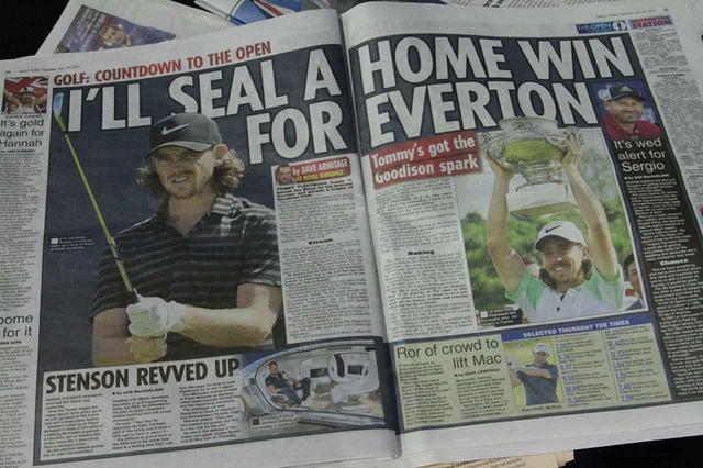 画像: イギリスのタブロイド紙に大きく掲載されるフリートウッド