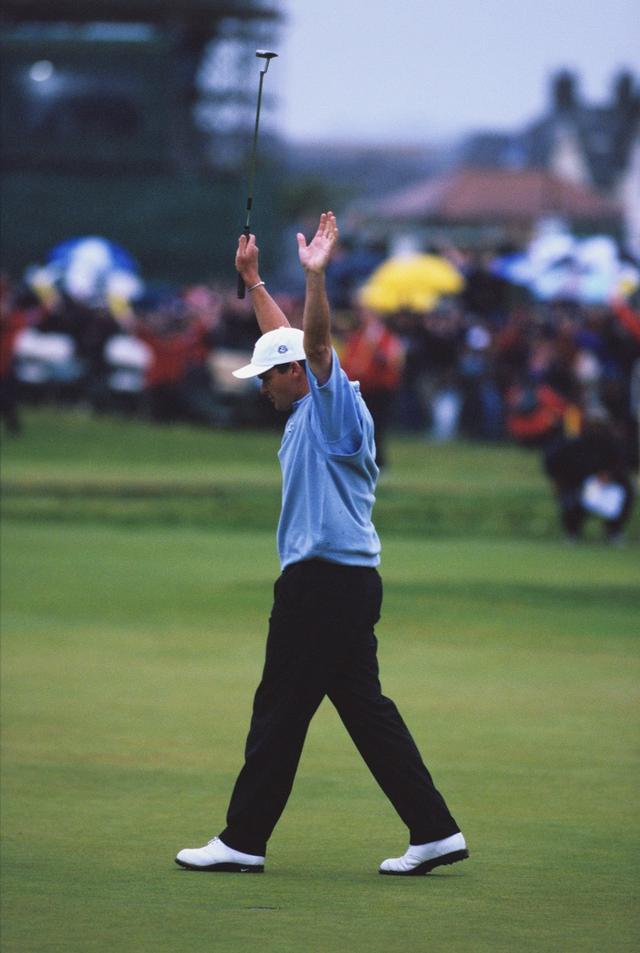 画像: 最終日、首位のヴァンデベルデとは10打差だったが優勝したポール・ローリー(写真:1999年全英オープン プレーオフ)