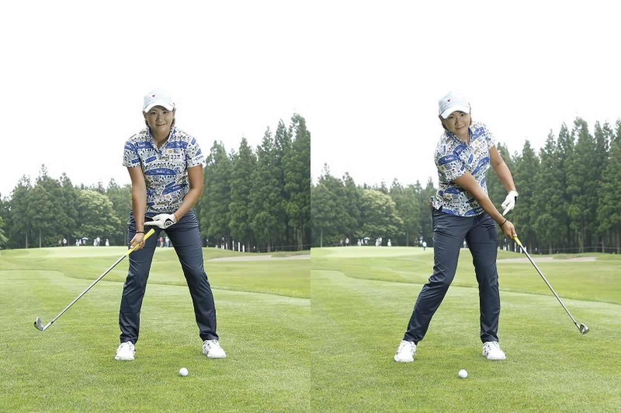 画像: 右手首の角度をキープする意識でスウィングしよう
