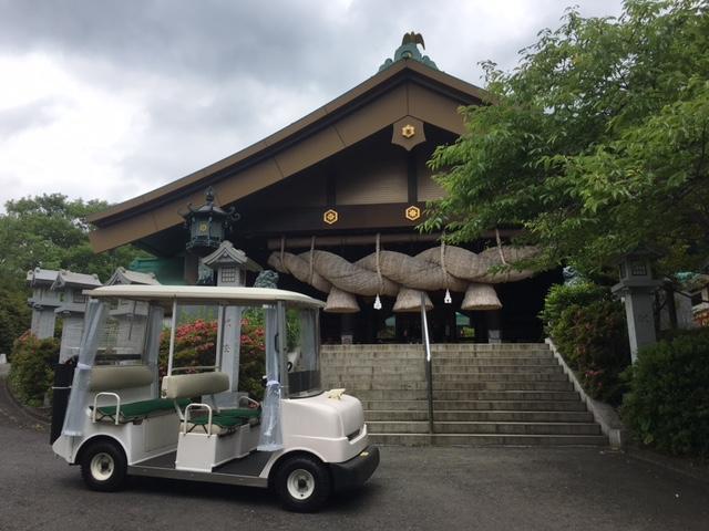 画像: 急坂のある神社で参拝・婚礼などに利用(常陸国出雲大社)
