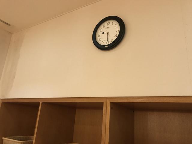 画像: 風呂場の時計をパシャリ