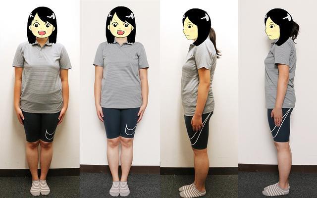 画像: 初回70.7キロと今回66.4キロを比較してみた。正面横の右写真が今回。お腹回りがスッキリしたかも……?