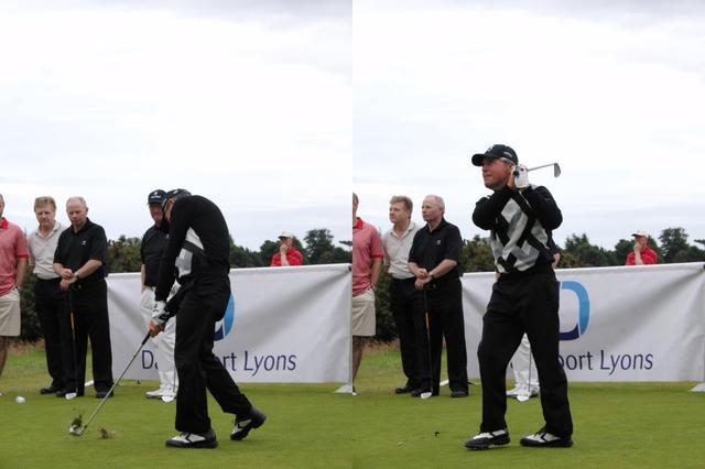 画像: ゴルフ界のレジェンド、ゲーリー・プレーヤーも、打った後すぐに一歩踏み出すことを提唱する