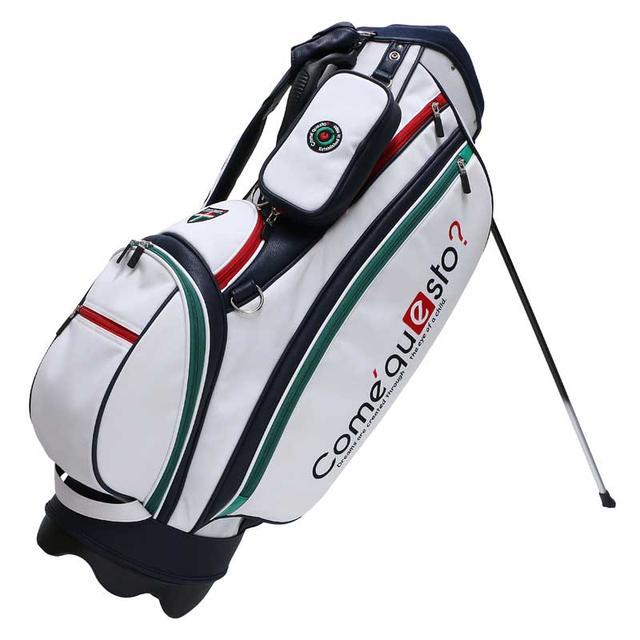 画像: NEW!コメクエスト 8.5型キャディバッグ ホワイト|ゴルフダイジェスト公式通販サイト「ゴルフポケット」