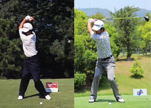 画像: 左は96年当時、右は2016年のトップオブスウィング。全然違う!