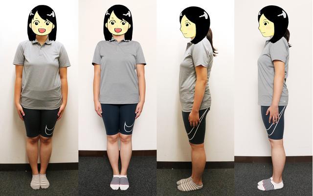 画像: 初回70.7キロ(写真左)と今回66.3キロ(写真右)を比較。なんだか姿勢が良くなったような気がしますね!