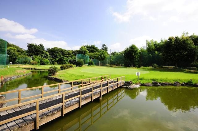 画像: バーディを狙いたいが、グリーン奥と左は池が待つ3番ホール、(42ヤード、パー3)